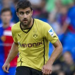 Dortmund's defender Sokratis Papastathopoulos controls the ball during a friendly football match againt FC Basel on July 10, 2013 in Basel.  AFP PHOTO / FABRICE COFFRINI        (Photo credit should read FABRICE COFFRINI/AFP/Getty Images)