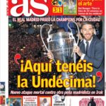 عناوین روزنامه آ.اس اسپانیا 10 خرداد 95
