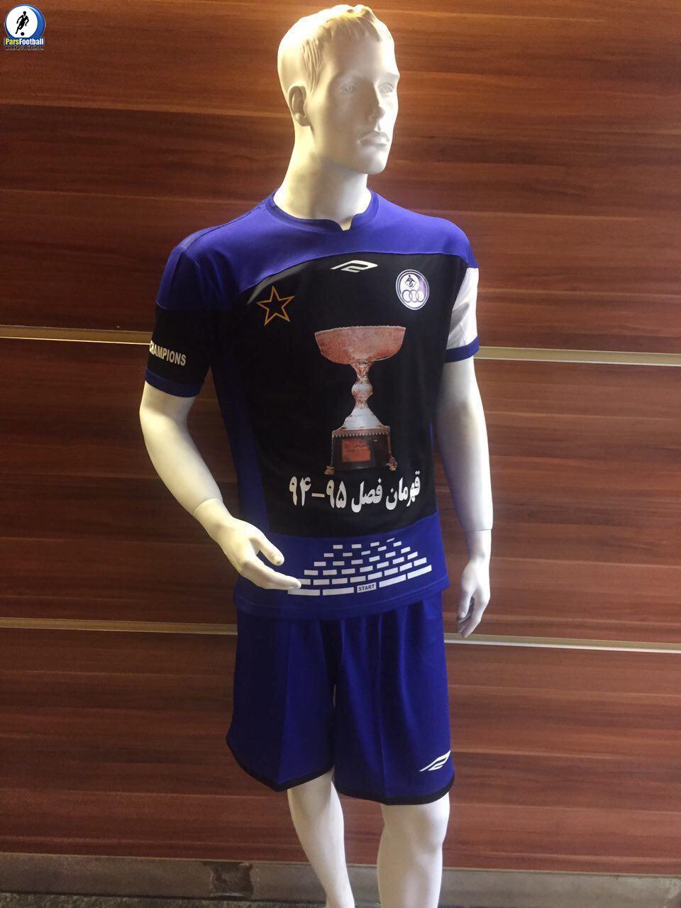 esteghlal khoozestan champion shirt