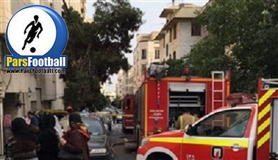 آتش سوزی خانه حسین اینانلو