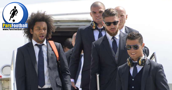 کاروان رئال به میلان رسید.
