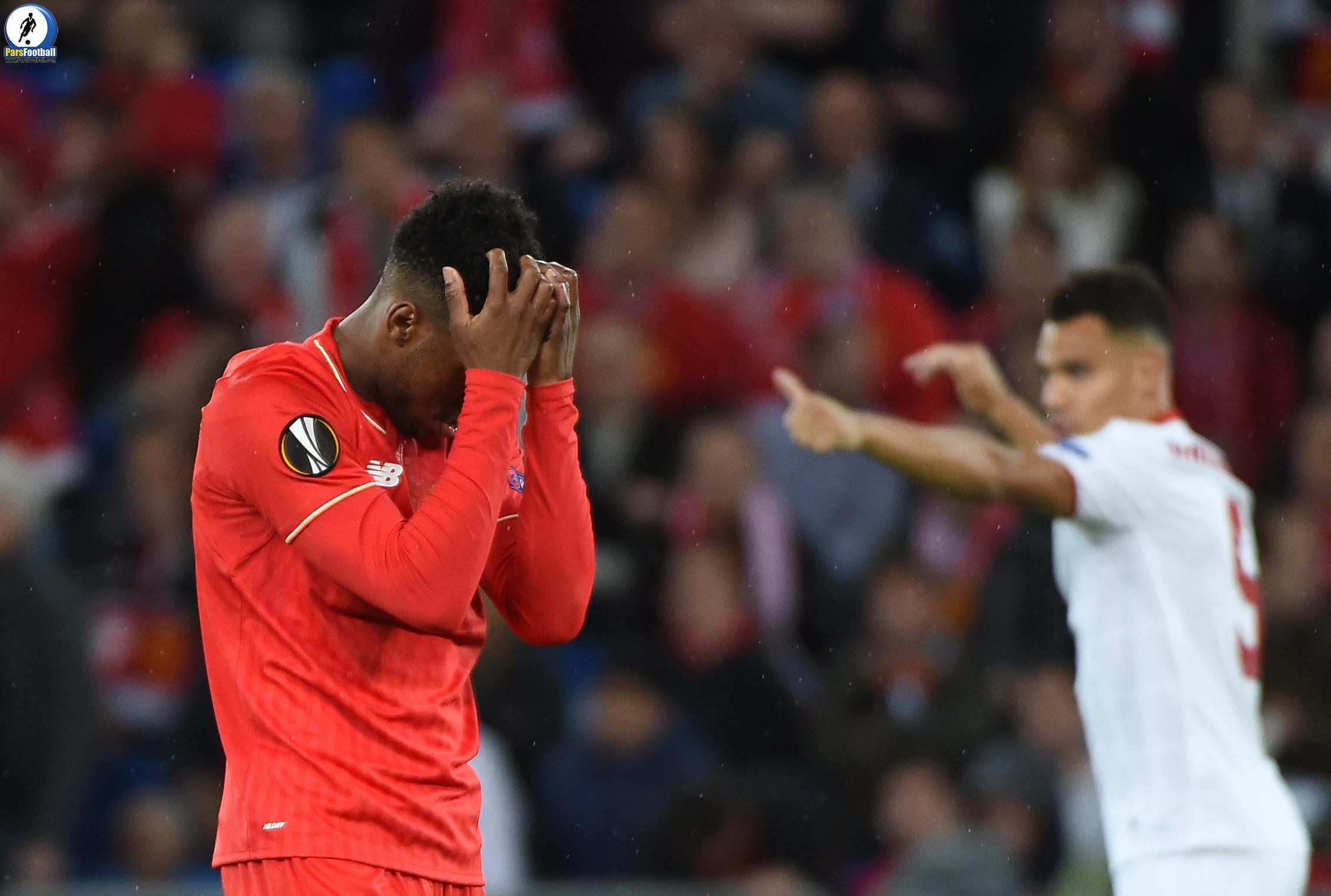 Liverpool's English forward Daniel Sturridge reacts after losing  the UEFA Europa League final football match between Liverpool FC and Sevilla FC at the St Jakob-Park stadium in Basel, on May 18, 2016.   AFP PHOTO / SEBASTIEN BOZON / AFP / SEBASTIEN BOZON        (Photo credit should read SEBASTIEN BOZON/AFP/Getty Images)