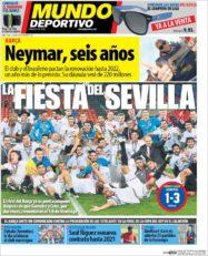 عناوین روزنامه ال موندو دپورتیوو اسپانیا 30 اردیبهشت 95