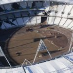 Olympic Stadium. Aerial view of the Olympic Stadium. Taken on 11 Nov 10 by Anthony Charlton.