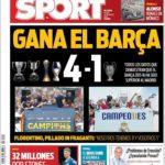 عناوین روزنامه اسپورت اسپانیا 10 خرداد 95
