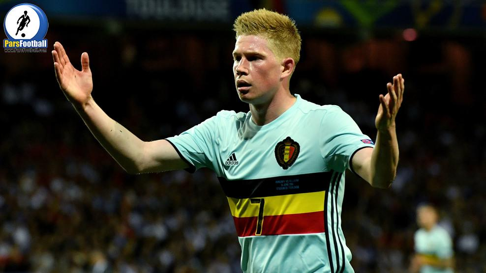 TOULOUSE, FRANCE - JUNE 26: Kevin De Bruyne of Belgium reacts during the UEFA EURO 2016 round of 16 match between Hungary and Belgium at Stadium Municipal on June 26, 2016 in Toulouse, France.  (Photo by Dennis Grombkowski/Getty Images)