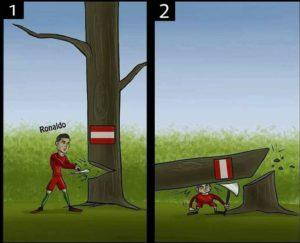 کاریکاتور رونالدو