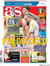 عناوین روزنامه آ.اس اسپانیا 8 تیر 95