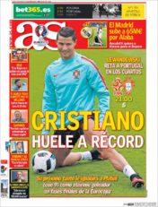 عناوین روزنامه آ.اس اسپانیا 10 تیر 95