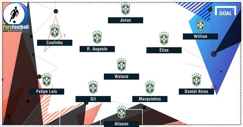 ترکیب برزیل مقابل پرو