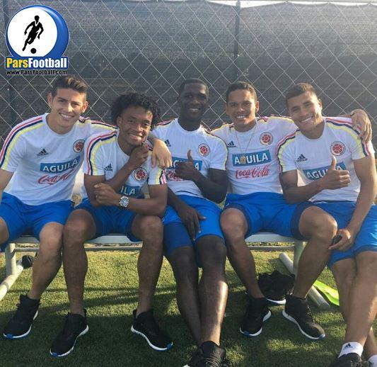 بازیکنان تیم ملی کلمبیا