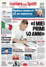 عناوین روزنامه کوریره دلو اسپورت ایتالیا 19 خرداد 95