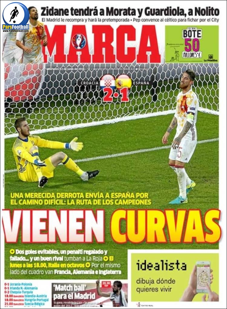 عناوین روزنامه مارکا اسپانیا 2 تیر 95