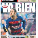 عناوین روزنامه ال موندو دپورتیوو اسپانیا 5 تیر 95