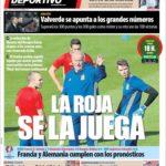 عناوین روزنامه ال موندو دپورتیوو اسپانیا 7 تیر 95