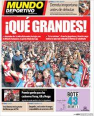 عناوین روزنامه ال موندو دپورتیوو اسپانیا 19 خرداد 95