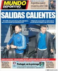 عناوین روزنامه ال موندو دپورتیوو اسپانیا 6 تیر 95