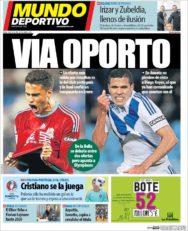 عناوین روزنامه ال موندو دپورتیوو اسپانیا 10 تیر 95