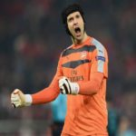 PIRAEUS, GREECE - DECEMBER 09:  Petr Cech of Arsenal celebrates at the end of Arsenal's win in the UEFA Champions League Group F match between Olympiacos FC and Arsenal FC at Karaiskakis Stadium on December 9, 2015 in Piraeus, Greece.  (Photo by Michael Regan/Getty Images)