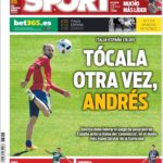 عناوین روزنامه اسپورت اسپانیا 7 تیر 95