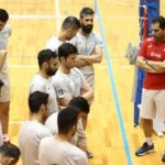 تمرینات تیم ملی والیبال ایران