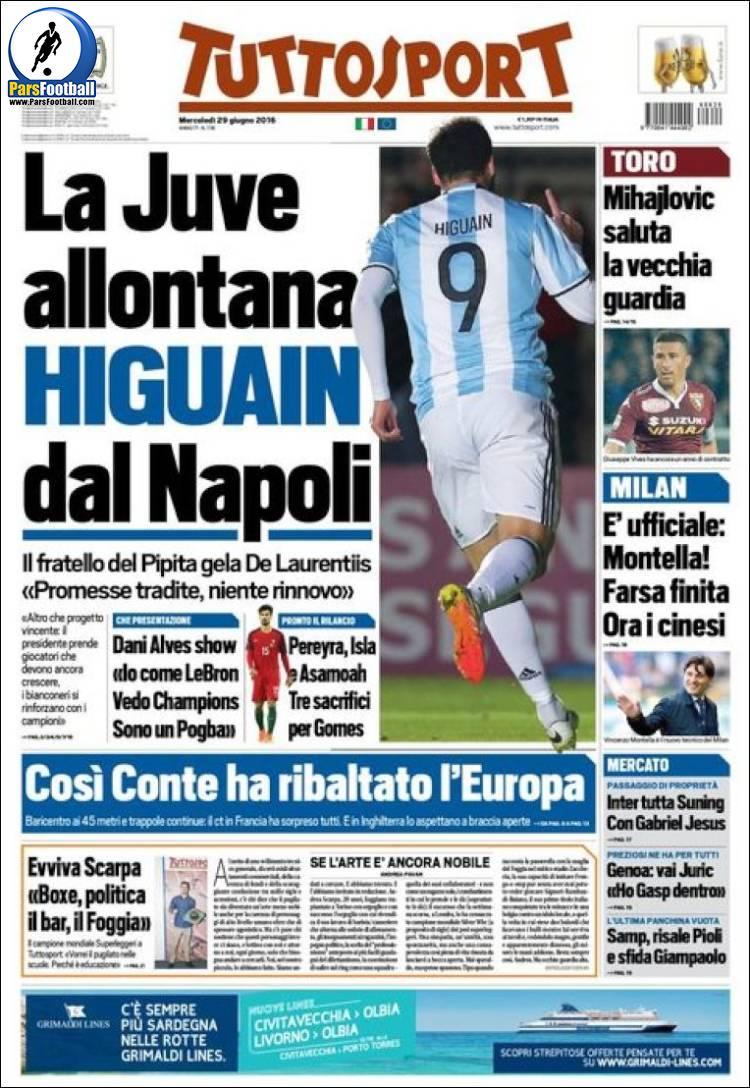 روزنامه توتو اسپورت ایتالیا 9 تیر 95