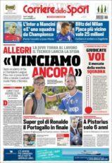 عناوین روزنامه کوریره دلو اسپورت ایتالیا 17 تیر 95