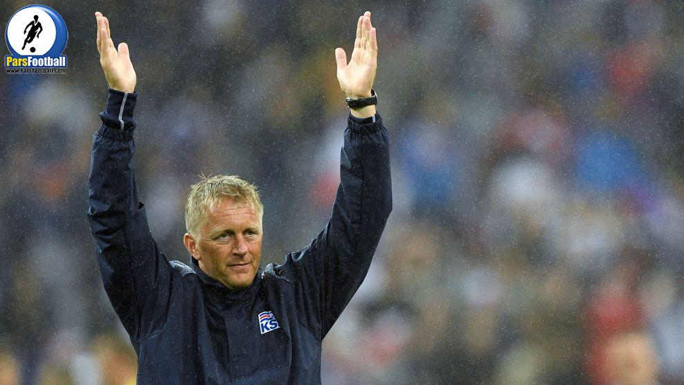 Iceland's coach Heimir Hallgrimsson reacts after the Euro 2016 quarter-final football match between France and Iceland at the Stade de France in Saint-Denis, near Paris, on July 3, 2016. .France won the match 5-2. / AFP / MARTIN BUREAU        (Photo credit should read MARTIN BUREAU/AFP/Getty Images)
