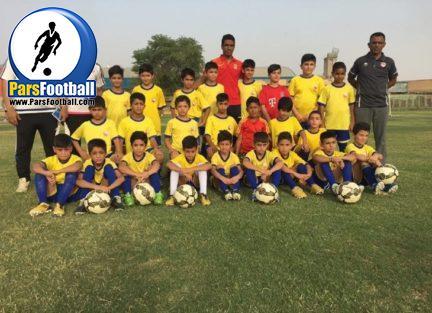 بازدید بازیکن و مربی فولاد از آکادمی هیئت فوتبال خوزستان