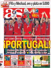 عناوین روزنامه آ.اس اسپانیا 21 تیر 95