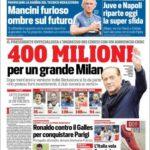 عناوین روزنامه کوریره دلو اسپورت ایتالیا 16 تیر 95