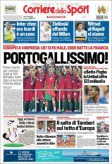 عناوین روزنامه کوریره دلو اسپورت ایتالیا 21 تیر 95