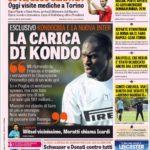 عناوین روزنامه گازتا دلو اسپورت ایتالیا 24 تیر 95