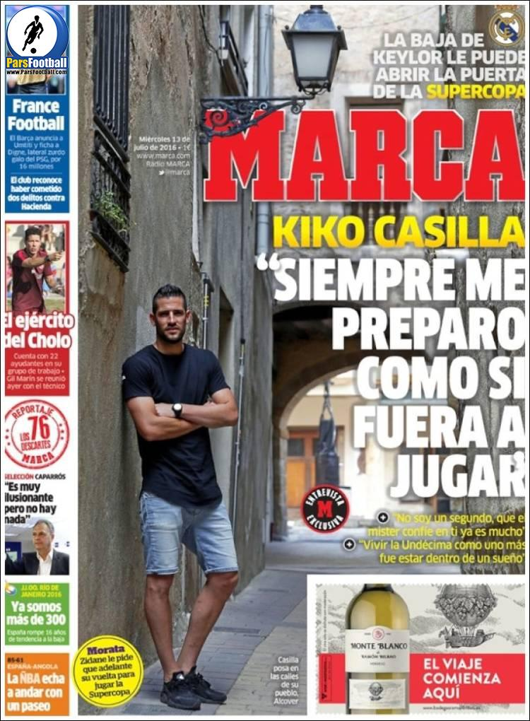 عناوین روزنامه مارکا اسپانیا 23 تیر 95