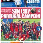 عناوین روزنامه ال موندو دپورتیوو اسپانیا 21 تیر 95