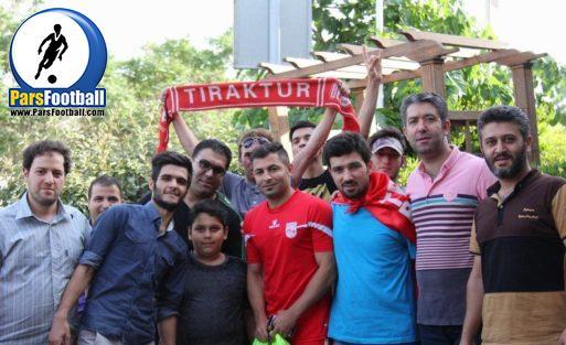 استقبال پرشورها از تراکتور در تهران
