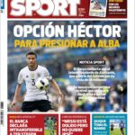عناوین روزنامه اسپورت اسپانیا 22 تیر