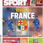 عناوین روزنامه اسپورت اسپانیا 24 تیر