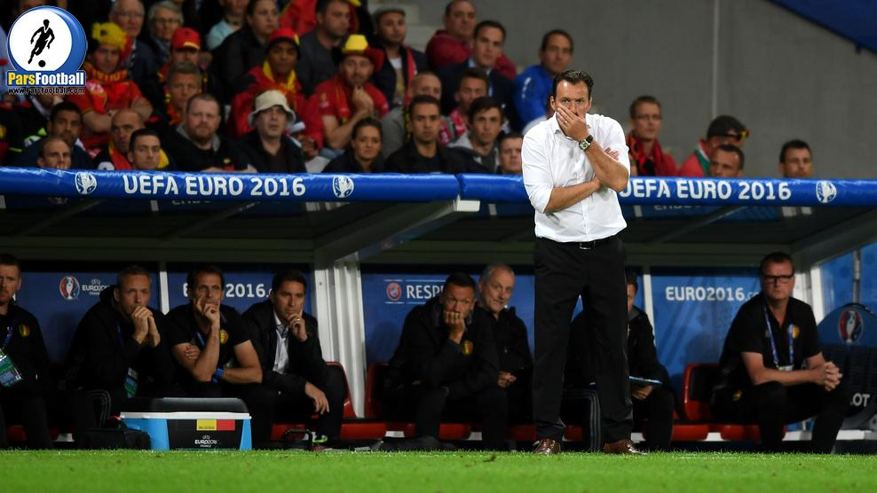 LILLE, FRANCE - JULY 01: Marc Wilmots manager of Belgium looks on during the UEFA EURO 2016 quarter final match between Wales and Belgium at Stade Pierre-Mauroy on July 1, 2016 in Lille, France.  (Photo by Michael Regan/Getty Images)