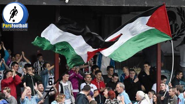 حضور هواداران سلتیک با پرچم فلسطین (عکس)