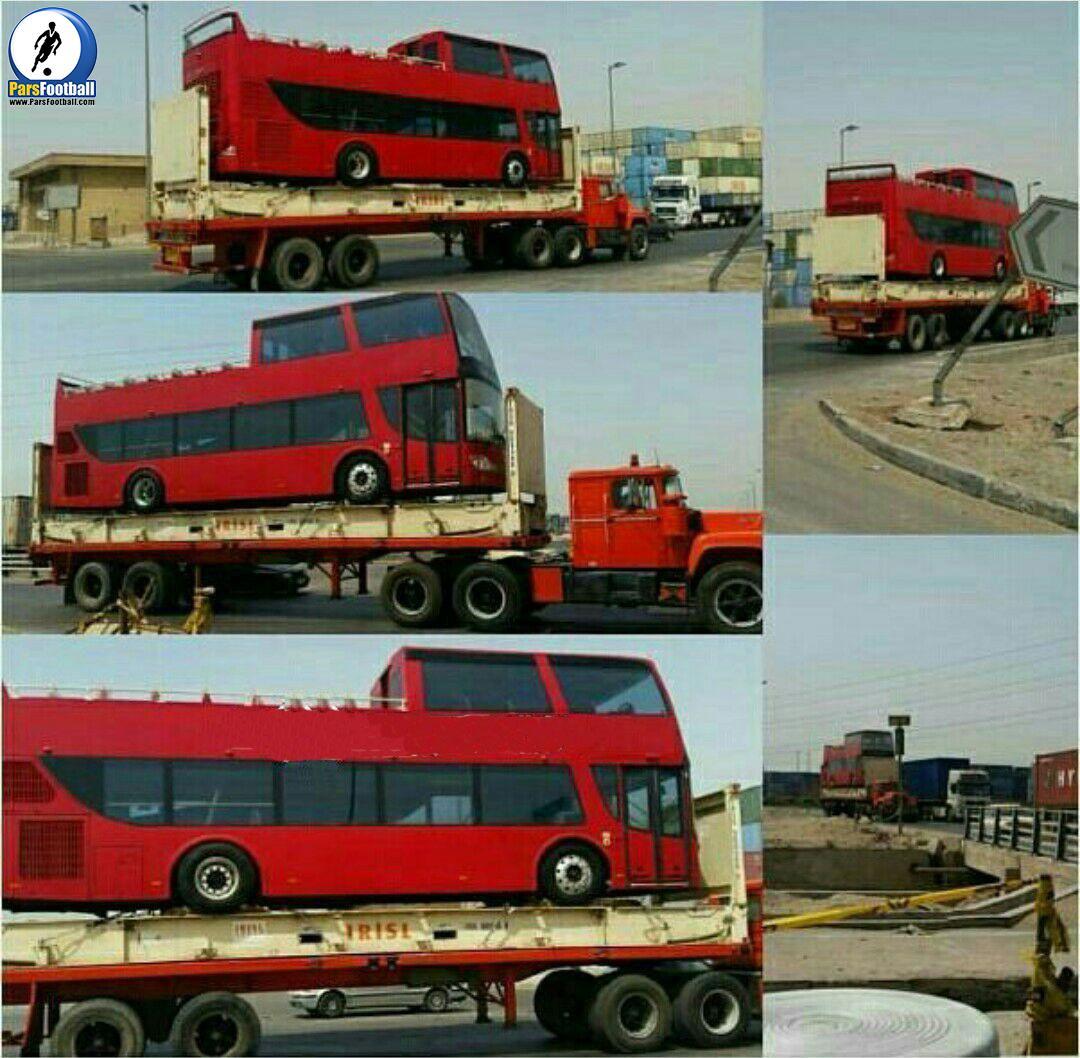اتوبوس تیم پرسپولیس