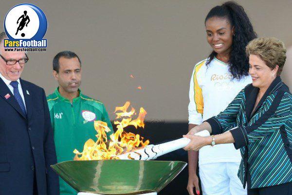 مشعل المپیک - دیلما روسف
