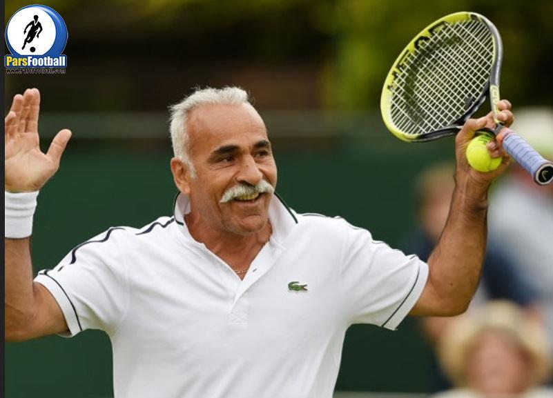 فیلم ؛ سرویس های جالب و بامزهی منصور بهرامی تنیسور حرفهای ایرانی