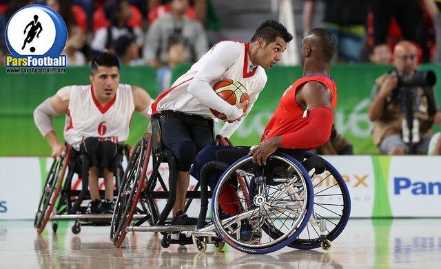 بسکتبال با ویلچر معلولان