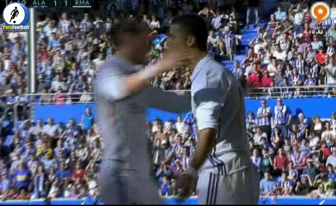 گل دوم و زیبای رونالدو برای رئال مادرید در بازی مقابل آلاوز