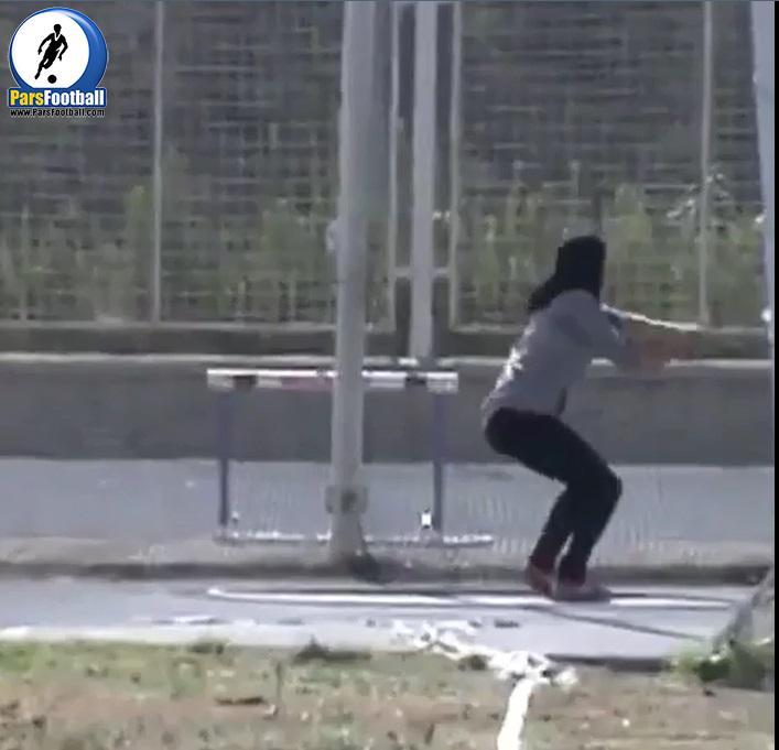 فیلم   اولین فیلم از مسابقات پرتاب چکش بانوان ایرانی