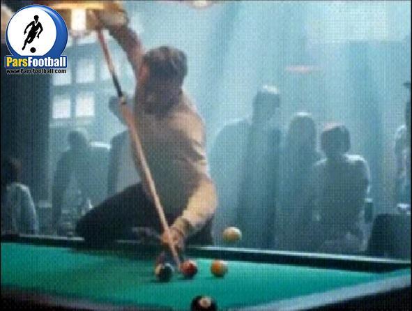فیلم | دانلود رایگان کلیپ دیوید بکهام در حال بازی بیلیارد