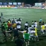 درگیری بازیکنان فوتبال