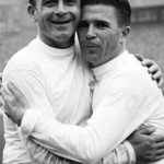آلفرد دی استفانو و فرانس پوشکاش دو ستاره باشگاه رئال مادرید