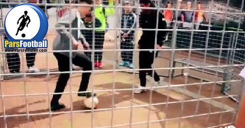 فوتبال نمایشی در فوتبال 7 نفره | حرکت نمایشی در فوتبال که مدافع را گیج می کند